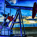 a project my son and I were working on..he took the picture and I edited it .pump jacks in Montana