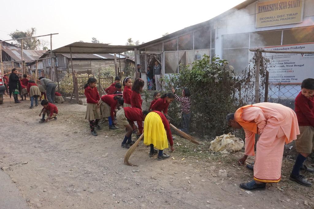 GAP at Deomali, Arunachal Pradesh - Campus Cleaning