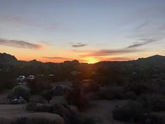 Sun coming up on Jumbo Rocks