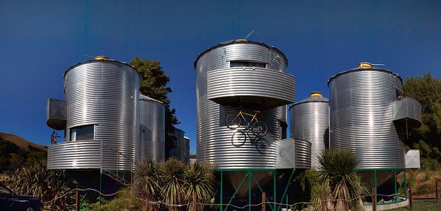 Grain silo accommodation.
