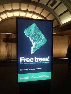 Digital ad displayed on Anacostia Metrorail Station platform