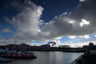 Clouds getting darker over Preston Docks | by Tony Worrall