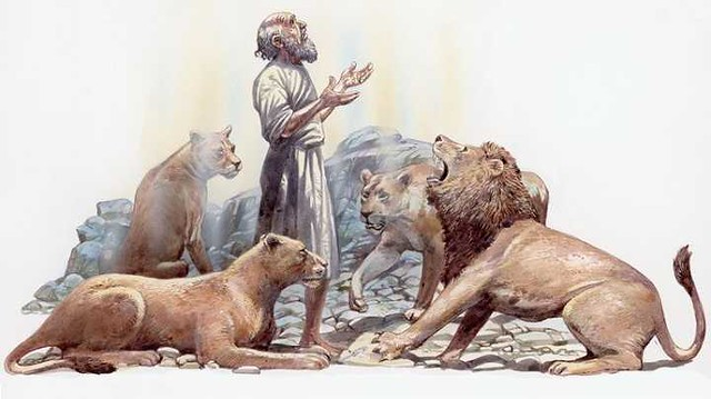 5074 What happened when Hazrat Daniyal A.S. was thrown in the pit of 2 lions
