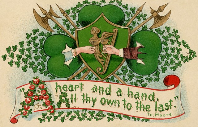 Saint Patrick's Day Greetings with a Heart and a Hand