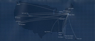 JetBlue route map, 2002 | JetBlue Airways route map from a 1 ... on