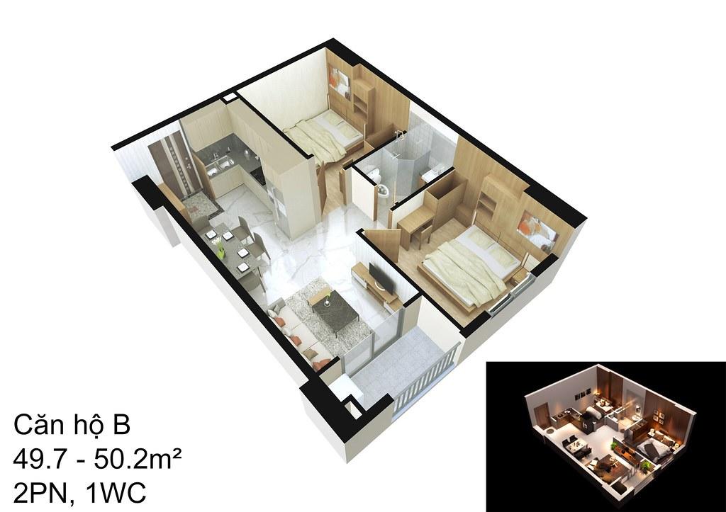mẫu căn hộ B Raemian Đông Thuận I-Park