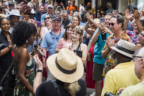 Nayo Jones at French Quarter Fest day 3 on April 13, 2019. Photo by Ryan Hodgson-Rigsbee RHRphoto.com