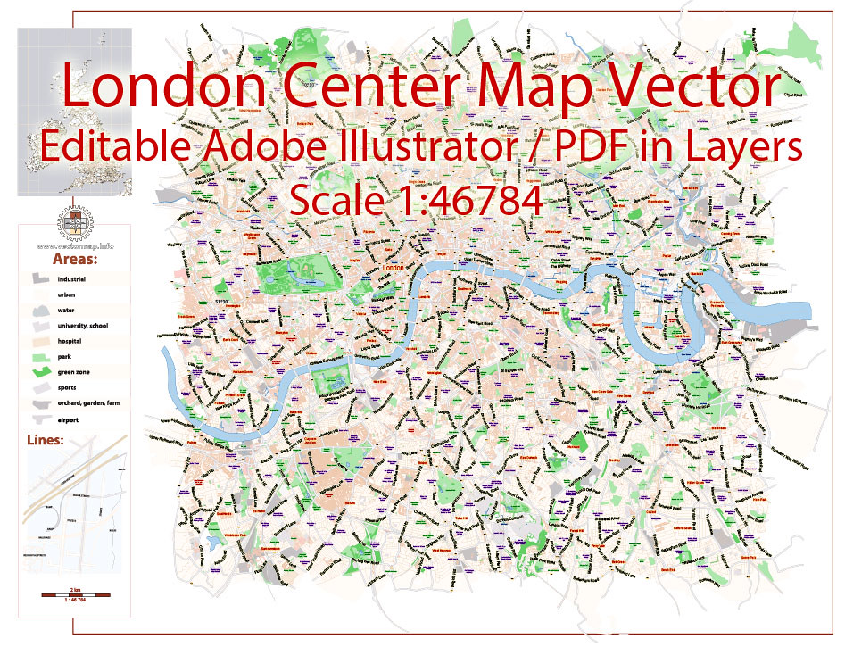 London Center Map.London Center Pdf Map Vector Uk Exact City Plan Street Map Flickr