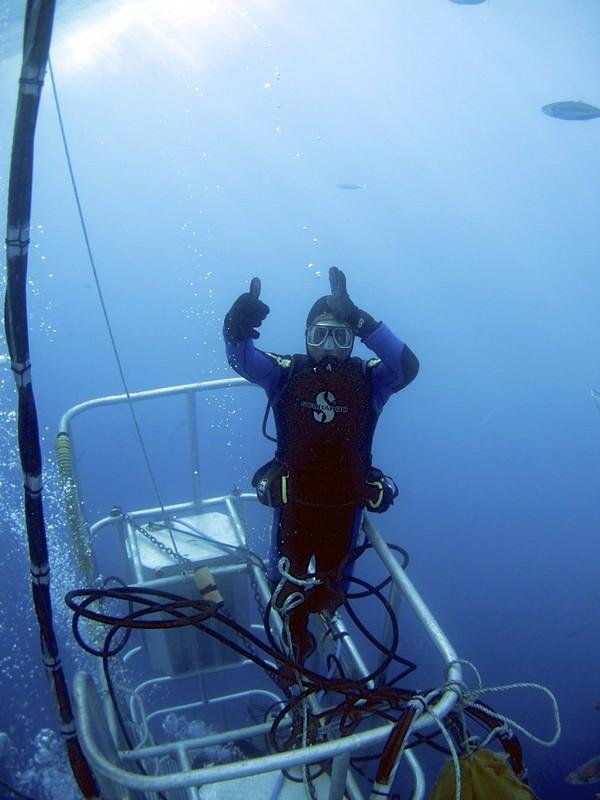 Divemaster Juan with Shark sign - Version 2