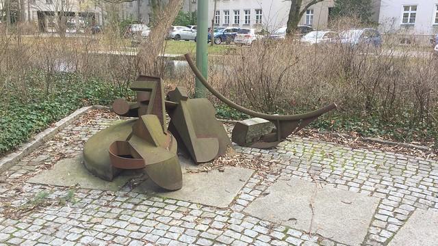 1985 Berlin-W. Bodenzentrifuge von Klaus Duschat Cortenstahl Hof Bundesumweltamt Bismarckplatz 1 in 14193 Grunewald