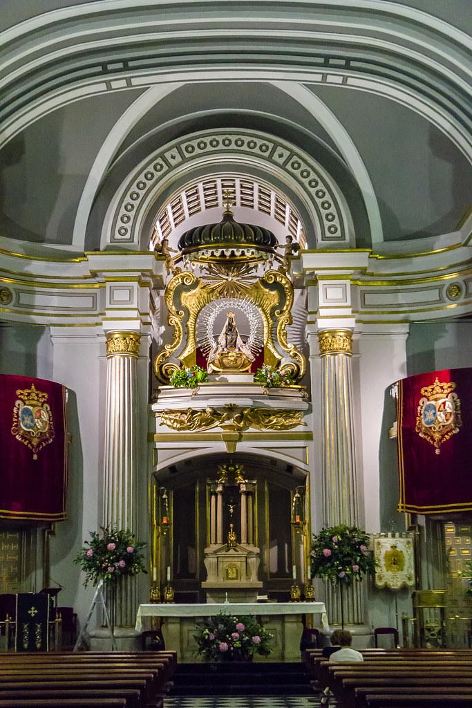 Altar Mayor Interior Real Basilica De Nuestra Senora De At Flickr