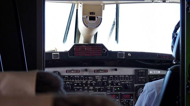 Eis auf Flugzeugfenster
