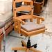 Wooden swivel chair