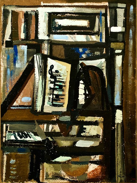 Le pianiste (1950) - Vieira da Silva (1908 - 1992)