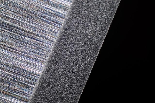 Microbevel on black translucent arkansas