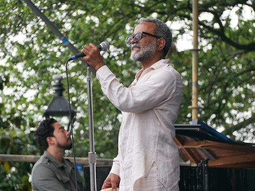 John Boutte on Day 2 of French Quarter Fest - 4.12.19. Photo by Louis Crispino.