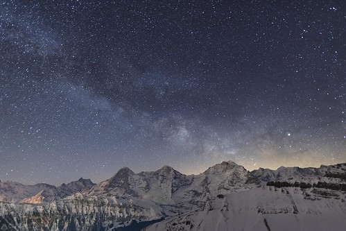 Milky way - Eiger Mönch and Jungfrau | by Captures.ch