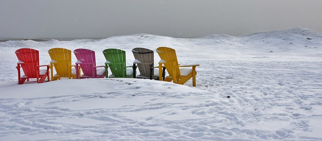 Winter Scene, Woodbine Beach, Toronto, ON
