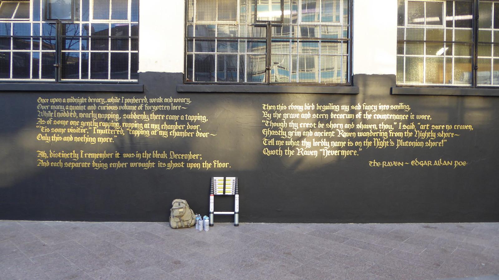 Artful Dodger Graffiti Brixton The Raven By Edgar Allan P Flickr