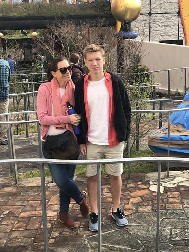 Nadia and Owen on rooftop garden   by bill kralovec
