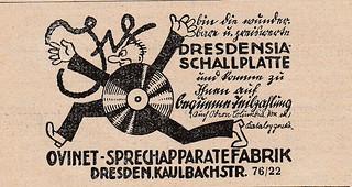 Dresdensia Schallplatte 1927   by quinet