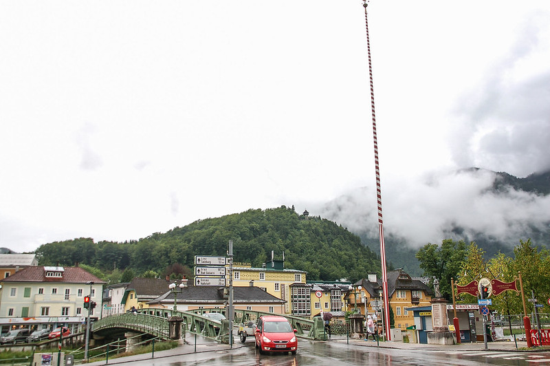Traunbrücke in Ischl(Traun at Ischl bridge)