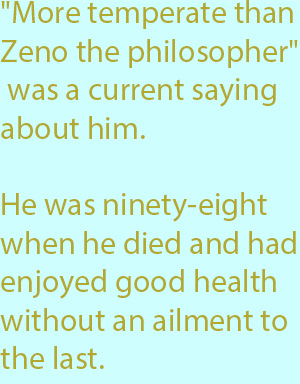 7-1  he was ninety-eight when he died and had enjoyed good health without an ailment to the last.