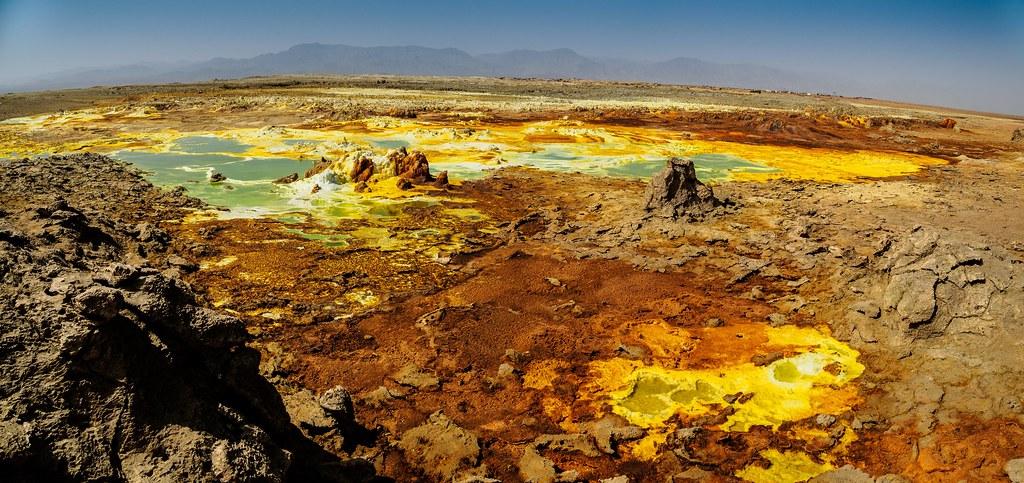Dallol volcano zone.Danakil depression