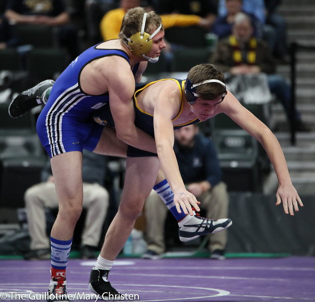 170 – Danny Schroeder (Mora) over Mac Bouwman (Totino-Grace) Fall 0:24. 190228BMC1953