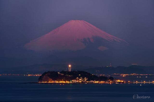 Enoshima Island and Mount Fuji at dawn #2