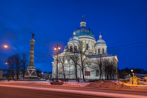 ancient square landscape winter church nature old cathedral city outdoor dome town snow bell exterior blue colorful sunrise morning orthodox design style cross street architecture white catedral landscapes outdoors leningradoblast ru saintpetersburg russia sky cityscape