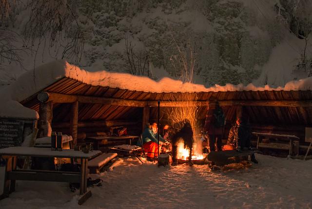 Finland-nighttime-photography-fireplace