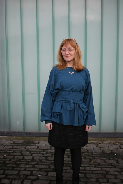 Digital Pattern Library Belted Sweater