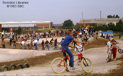 1983: The BMX track at the Oasis, Swindon | by Local Studies, Swindon Central Library