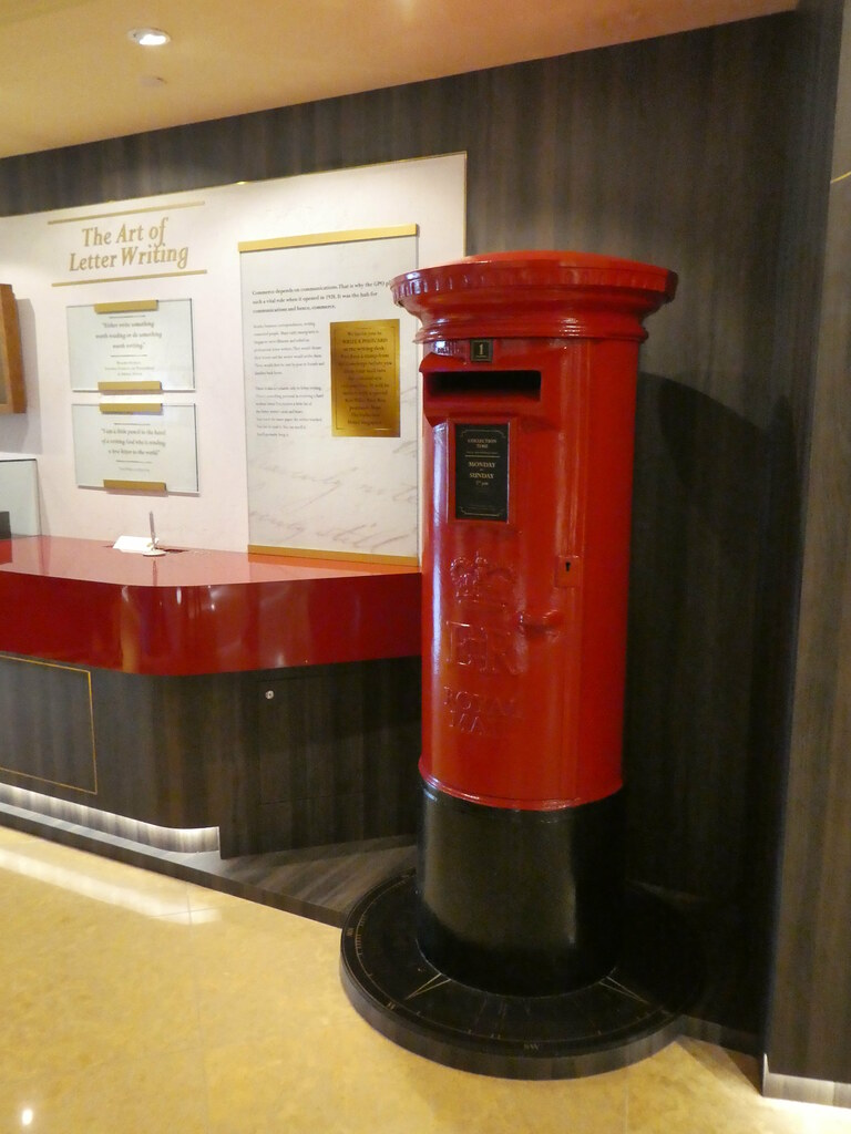 One of the British post boxes still in use at the Fullerton Hotel, Singapore