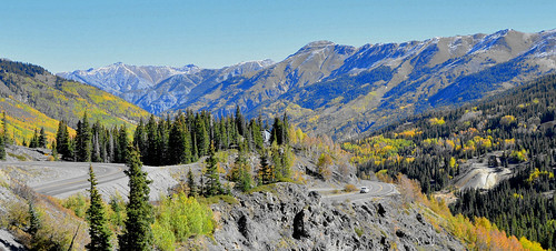 colorado silverton ouray highway 550 milliondollarhighway road mountains scenery rugged views usa trees