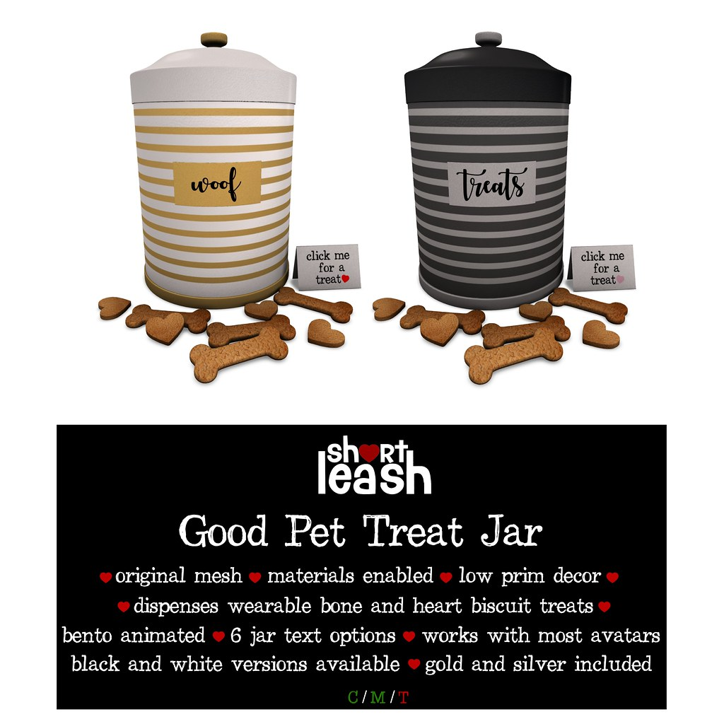 .:Short Leash:. Good Pet Treat Jar