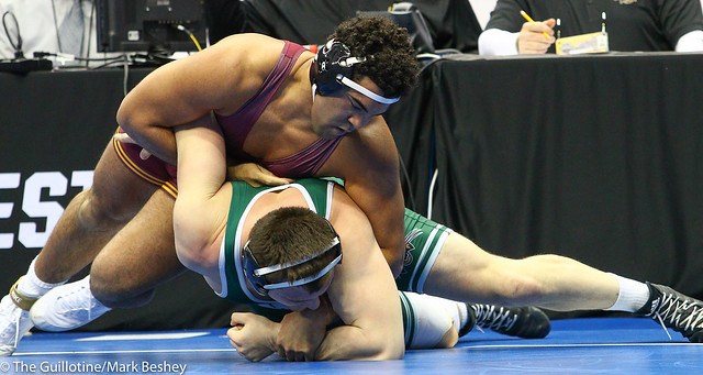 Champ. Round 1 - Gable Steveson (Minnesota) 31-1 won by tech fall over Zack Parker (Ohio) 15-13 (TF-1.5 3:22 (18-3) - 190321amk0158