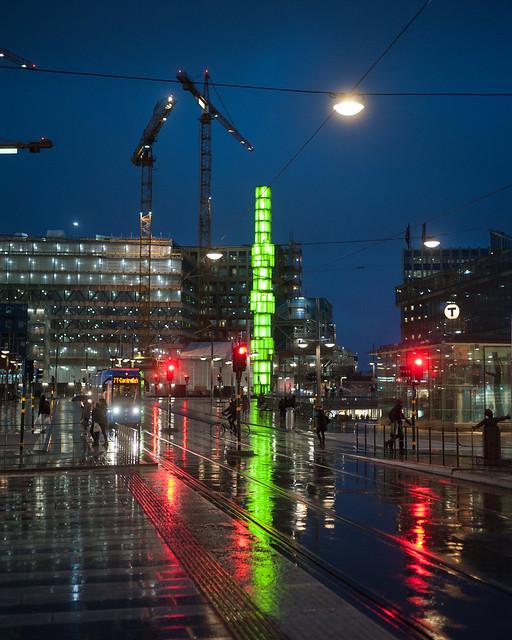Kristallvertikalaccent i grönt - Stockholm mars 2019