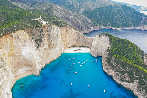 Viewpoint Shipwreck Cove Zakynthos Greece aerial | by dronepicr