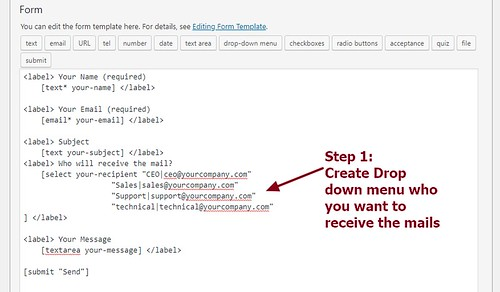 Contact Form 7 code to send  mails based on drop down person or department selection | by wordpress css customization