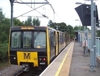 Tyne & Wear Metro car 4055 at South Hylton   by Tom Burnham