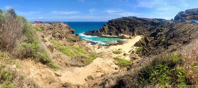 Halona Beach Cove & Halona Blowhole Lookout, Kalaniana'ole Highway, Oahu, Hawaii, USA