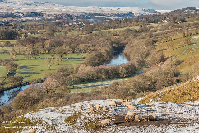 Towards Middleton and Holwick from Whistle Crag Jan 2019