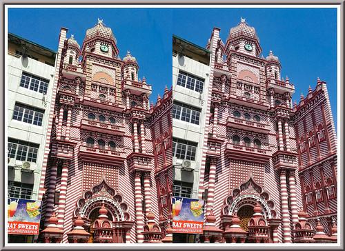 jamiulalfarmosque colombo srilanka 3d stereoscopy stereophotography