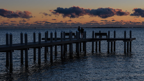 barnegatbay newjersey waretownnj pier sunrise dawn