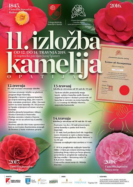 11 izlozba kamelija Opatija_Plakat
