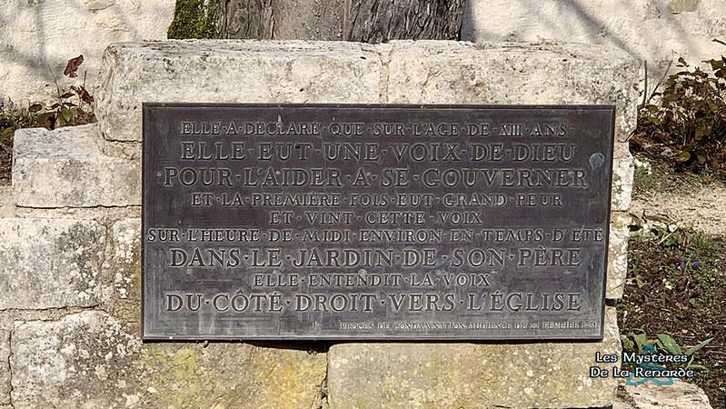 Jardin maison natale de Jeanne d'Arc