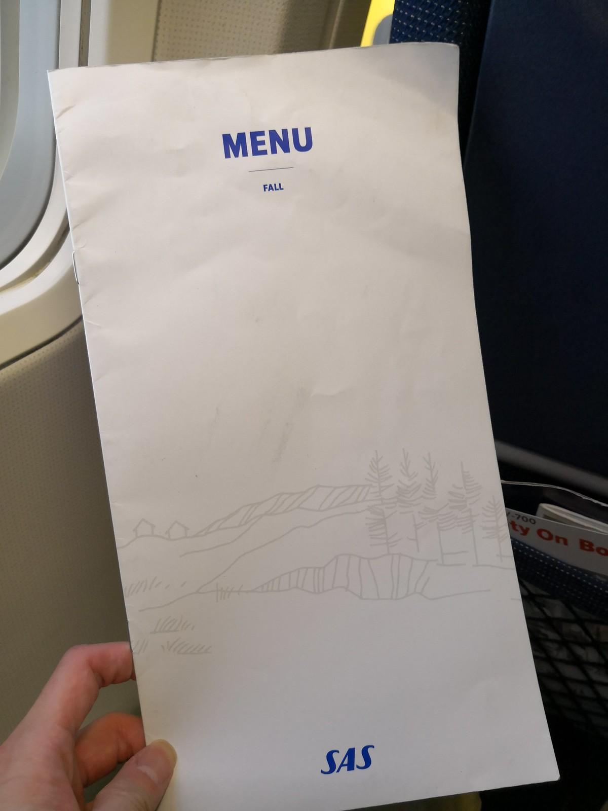 Buy onboard menu