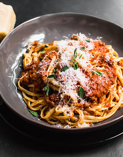 Serve traditional bolognese sauce with a healthy grating of fresh Parmesan cheese. | by FerraroKitchen1
